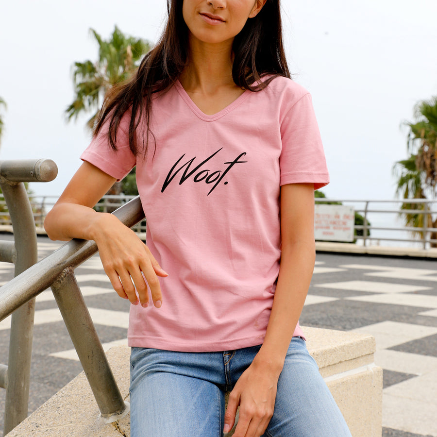 Women | Pink Printed Tee - Mad Dogs Clothing