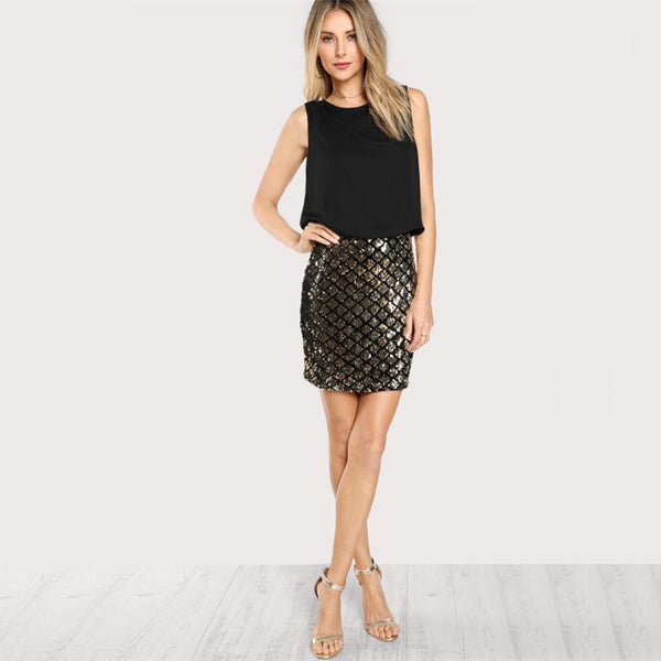 Siren-skirt dress