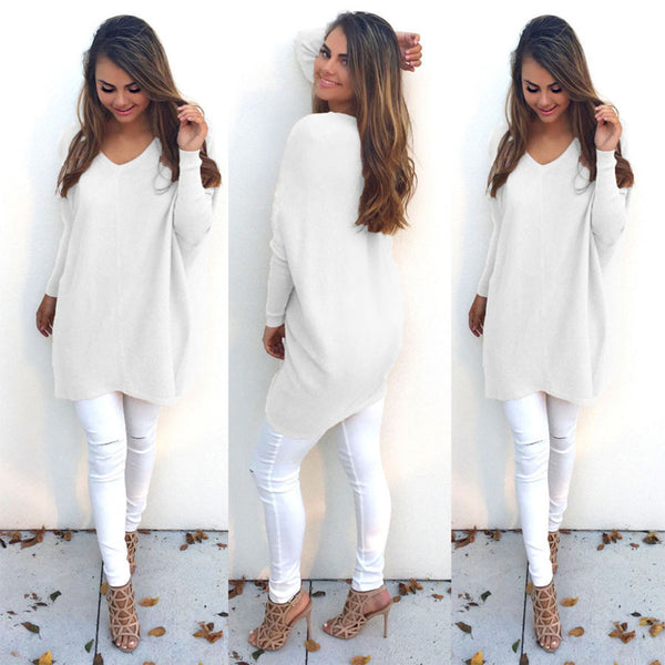 Warm Sweater V-Neck Pullover