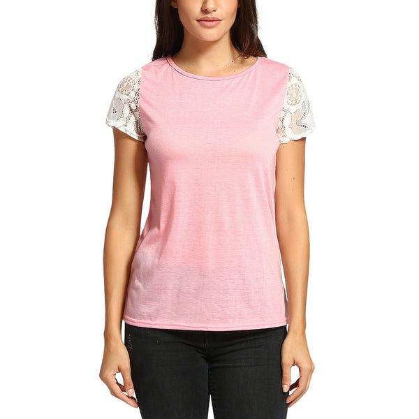 Pink T-Shirt Patchwork