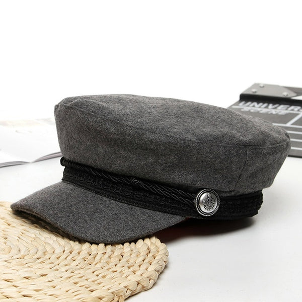 French style wool hat