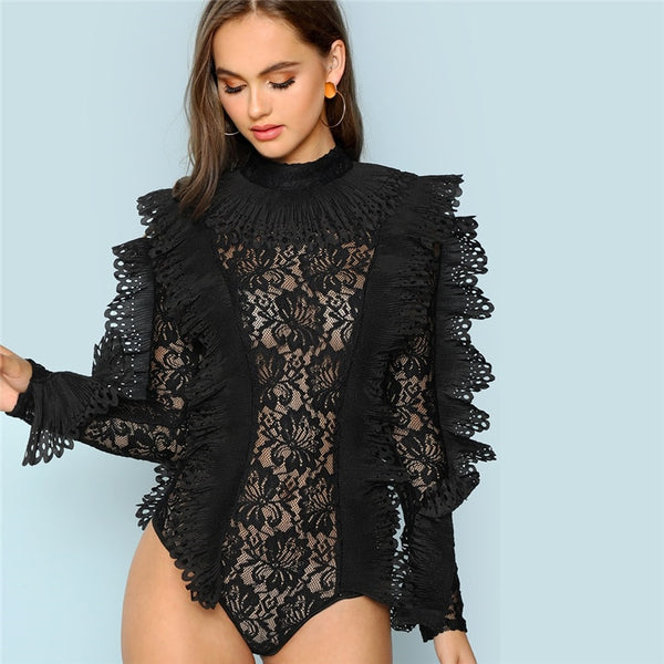 Black Tatting Bodysuit