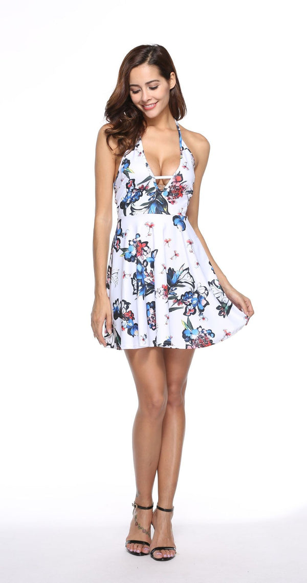 Spring Casual Flower Dress