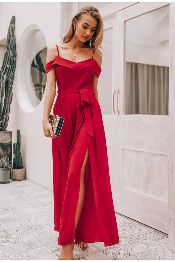 Elegant Long Jumpsuit Dress