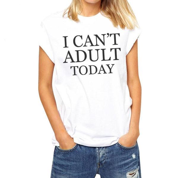 Smooth white t-shirt with funny text