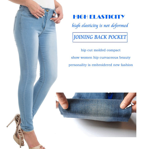 Blue Casual Jeans Pearl