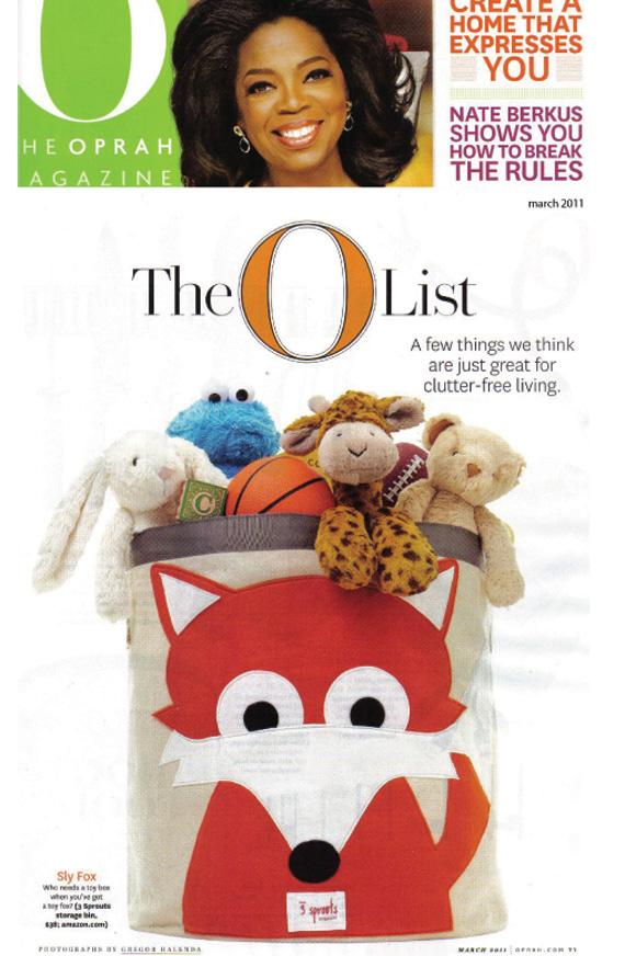 Oprah Magazine March 2011 - 3 Sprouts Press
