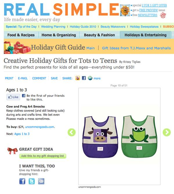 Real Simple Dec2009 - 3 Sprouts Press