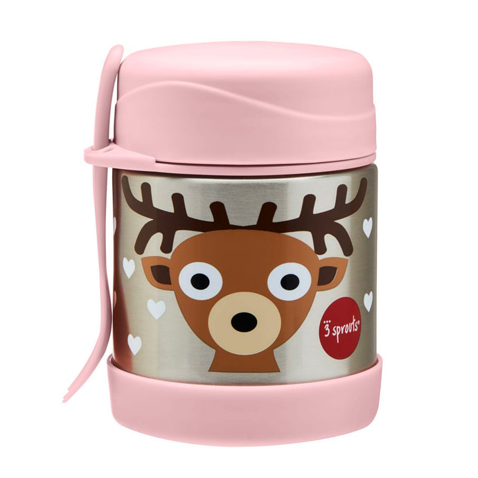deer stainless steel food jar