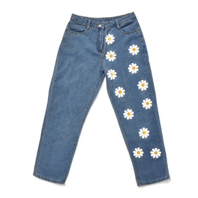 Fashion Chic Woman jeans high waisted jeans