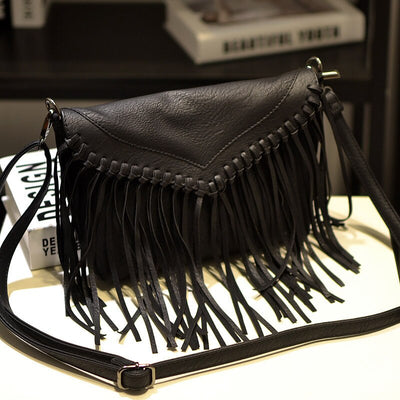 Cross body Hand Bags Female Tassel Envelope Bag