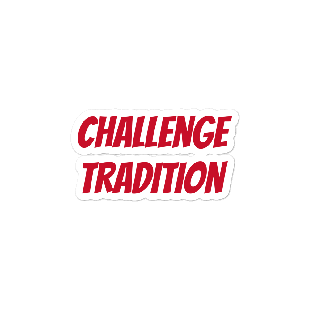 Challenge Tradition Bubble-free stickers