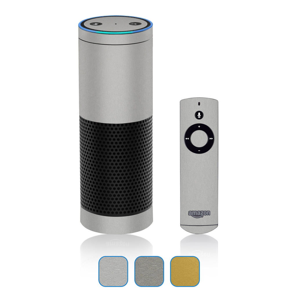 Amazon Echo Skins - Brushed Metal - iCarbons - 1
