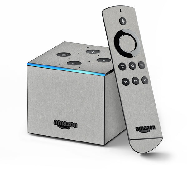 Amazon Fire TV CUBE Skins - Brushed Metal