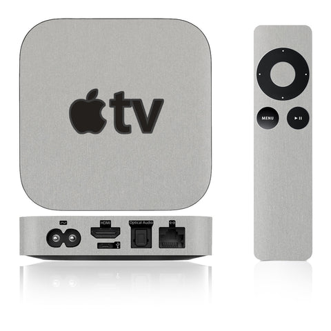 Apple TV Skins - 2nd & 3rd Gen - Brushed Metal - iCarbons - 1