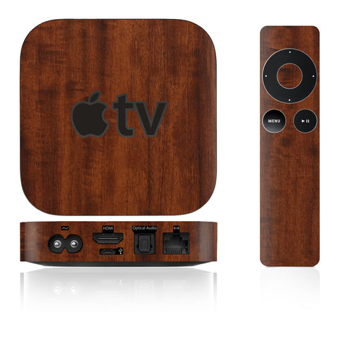 Apple TV Skins - 2nd & 3rd Gen - Wood Grain - iCarbons - 1