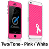 Breast Cancer Awareness iPhone 4-5S Skin - iCarbons - 5