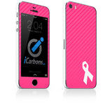 Breast Cancer Awareness iPhone 4-5S Skin - iCarbons - 1