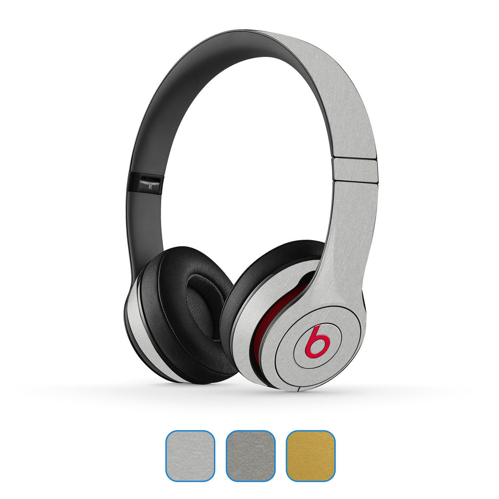 Beats Solo Skins (2nd & 3rd Gen) - Brushed Metal - iCarbons - 1
