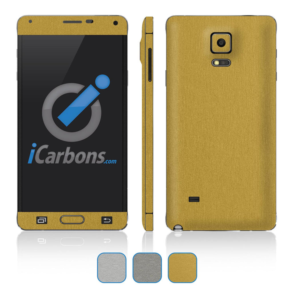 Samsung Galaxy Note 4 Skins - Brushed Metals - iCarbons - 1