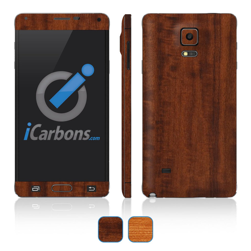 Samsung Galaxy Note 4 Skins - Wood Grain - iCarbons - 1