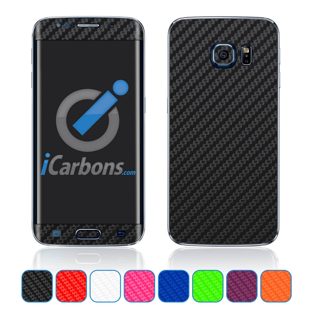 Samsung Galaxy S6 Edge Skins - Carbon Fiber - iCarbons - 1