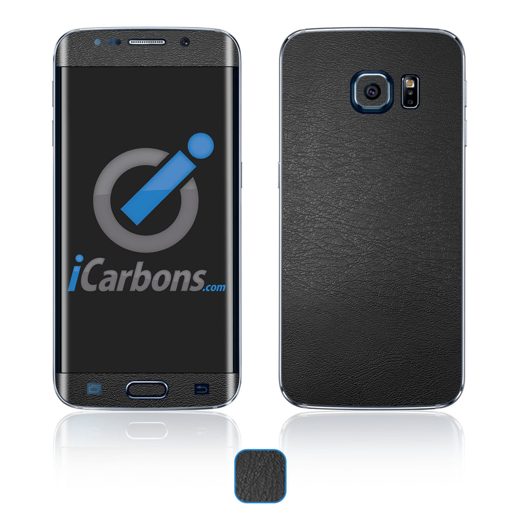 Samsung Galaxy S6 Edge Skins - Leather - iCarbons - 1