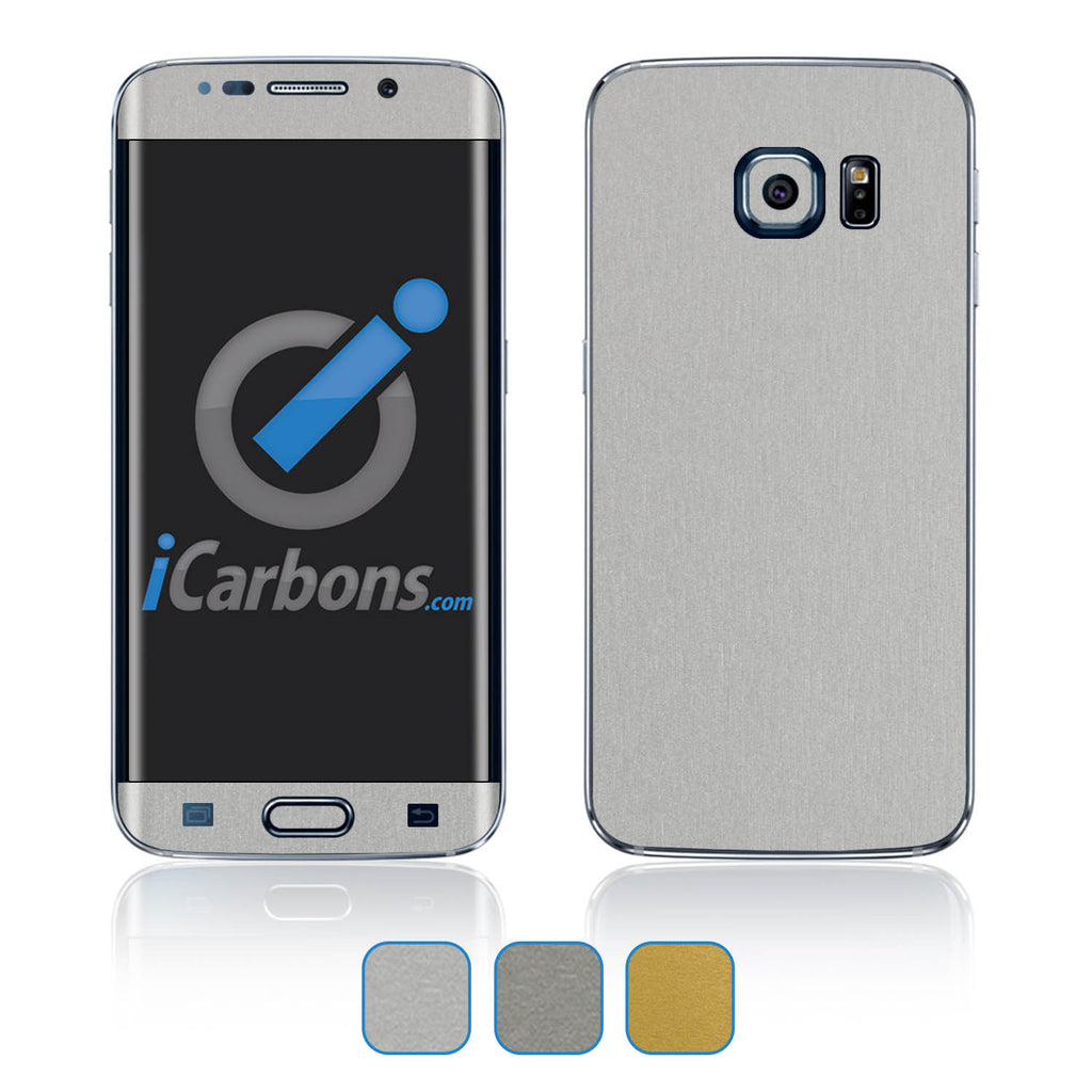 Samsung Galaxy S6 Edge Skins - Brushed Metal - iCarbons - 1