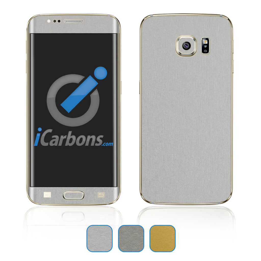 Samsung Galaxy S6 Edge Plus Skins - Brushed Metal - iCarbons - 1