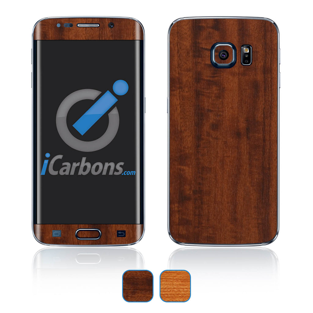 Samsung Galaxy S6 Edge Skins - Wood Grain - iCarbons - 1