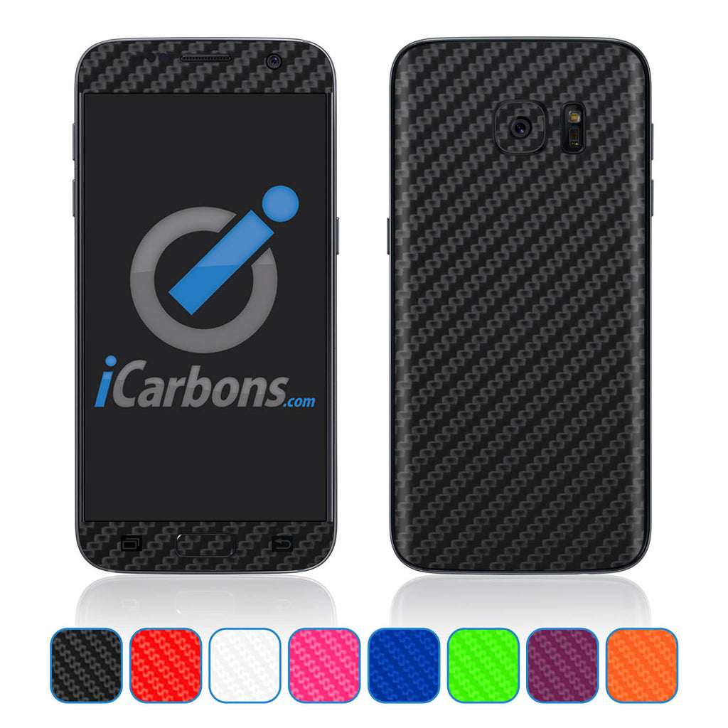 Samsung Galaxy S7 Skins - Carbon Fiber - iCarbons - 1