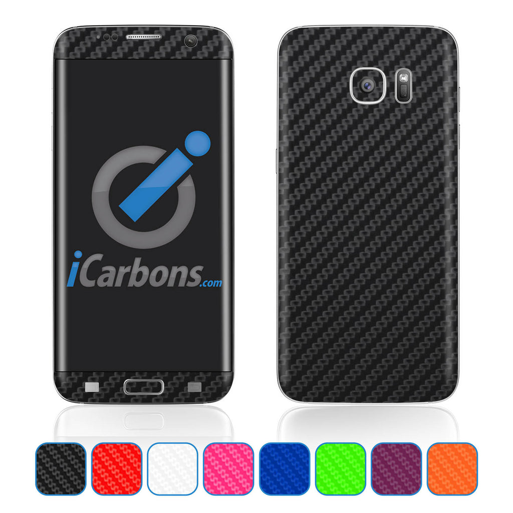 Samsung Galaxy S7 Edge Skins - Carbon Fiber - iCarbons - 1