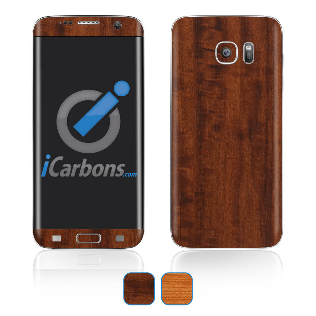 Samsung Galaxy S7 Edge Skins - Wood Grain - iCarbons - 1