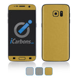 Samsung Galaxy S7 Skins - Brushed Metal - iCarbons - 1
