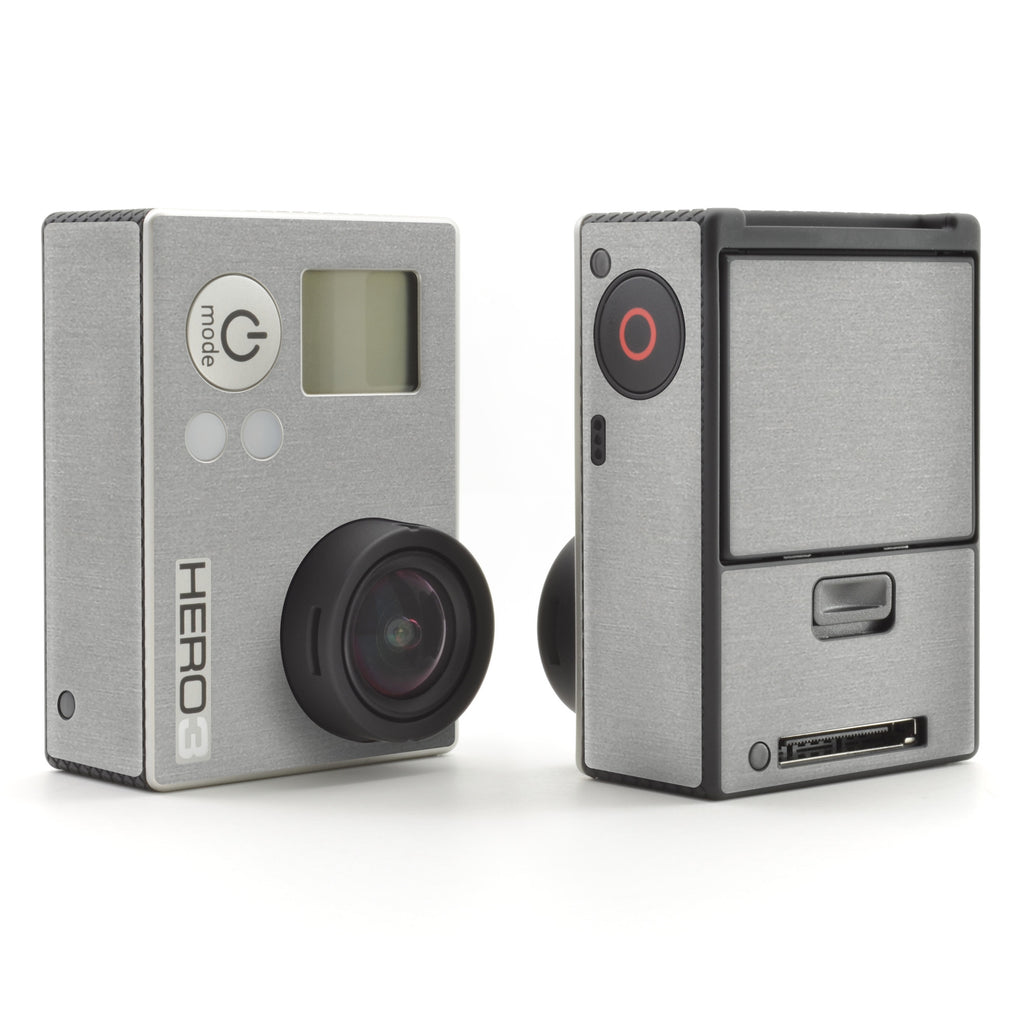 GoPro Hero 3 Skins - Brushed Metal - iCarbons - 1