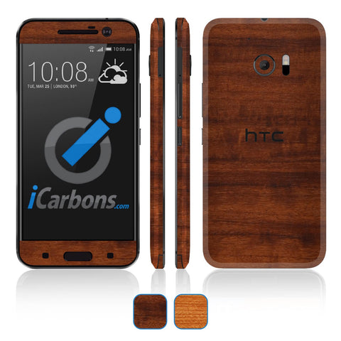 HTC 10 Skins - Wood Grain - iCarbons - 1