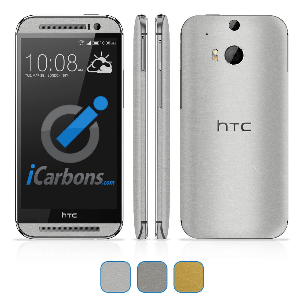 HTC ONE M8 Skins - Brushed Metal - iCarbons - 1