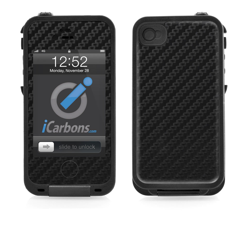 LifeProof Case iPhone 4/4S Skin - Black Carbon Fiber - iCarbons - 1