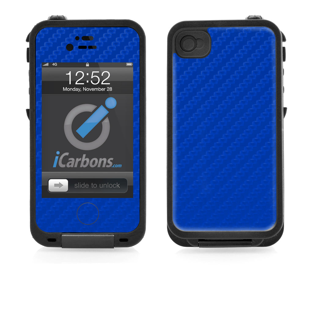 LifeProof Case iPhone 4/4S Skin - Blue Carbon Fiber - iCarbons