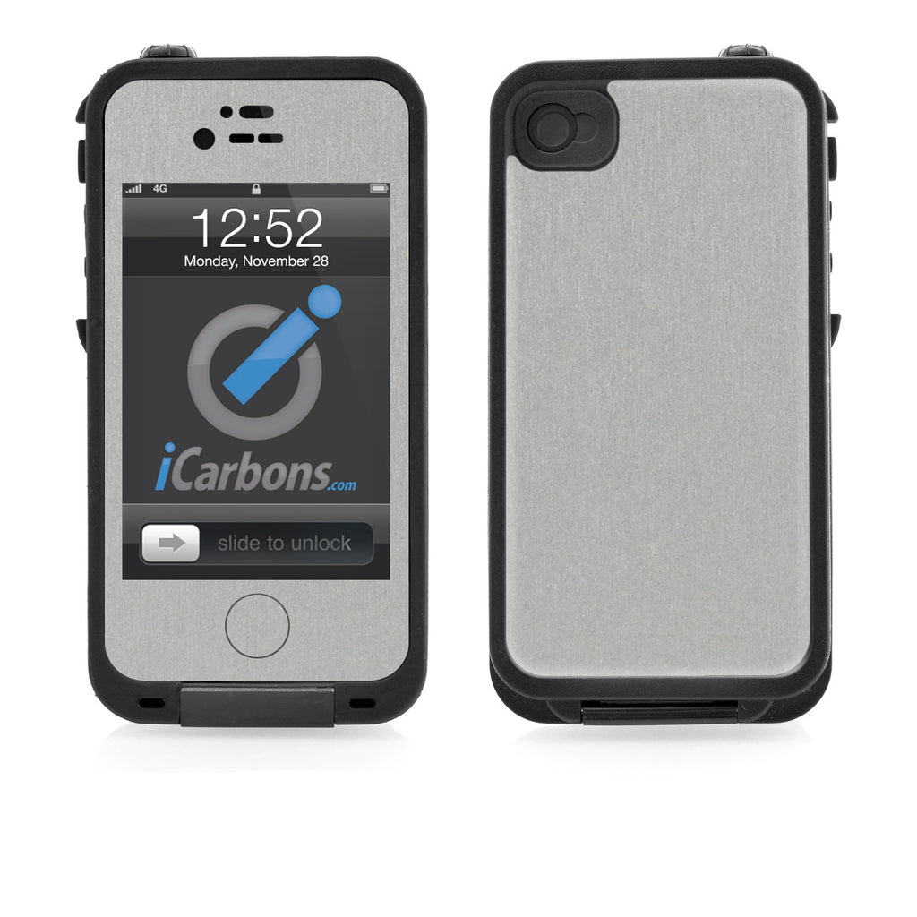 LifeProof Case iPhone 4/4S Skin - Brushed Aluminum - iCarbons - 1