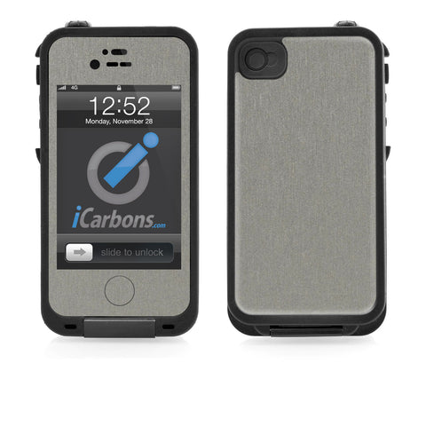 LifeProof Case iPhone 4/4S Skin - Brushed Titanium - iCarbons