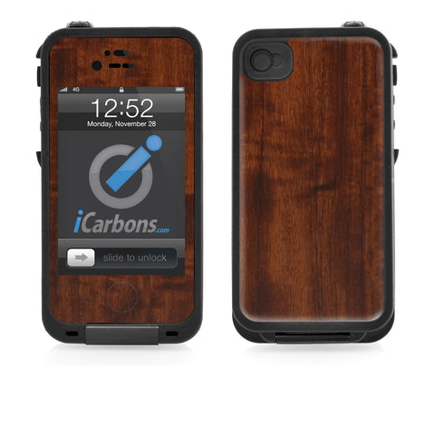 LifeProof Case iPhone 4/4S Skin - Dark Wood - iCarbons