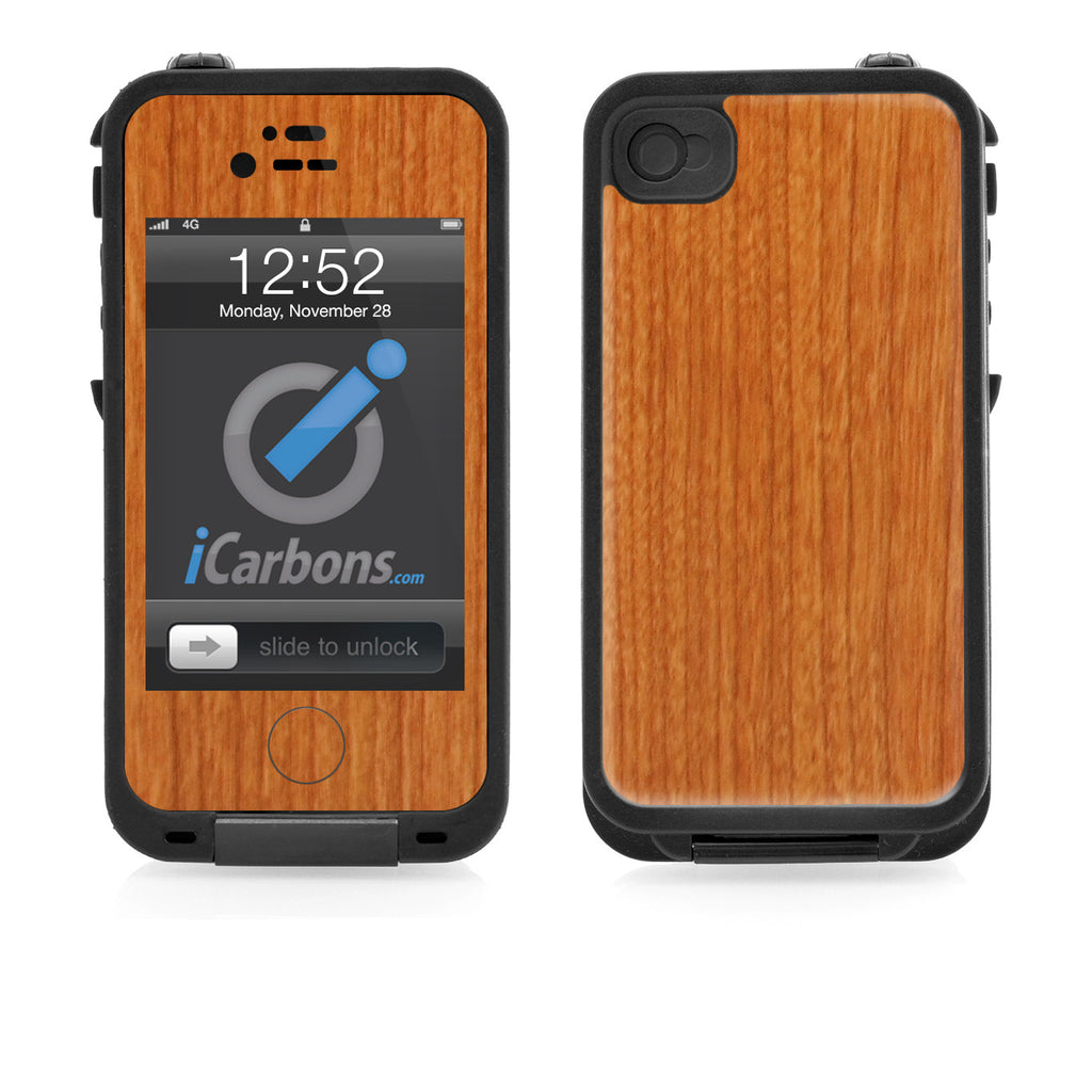 LifeProof Case iPhone 4/4S Skin - Light Wood - iCarbons - 1