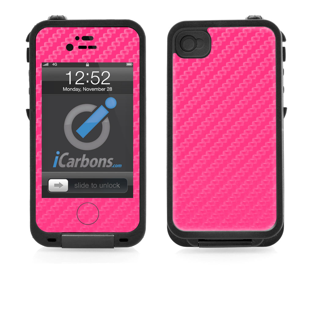 LifeProof Case iPhone 4/4S Skin - Pink Carbon Fiber - iCarbons