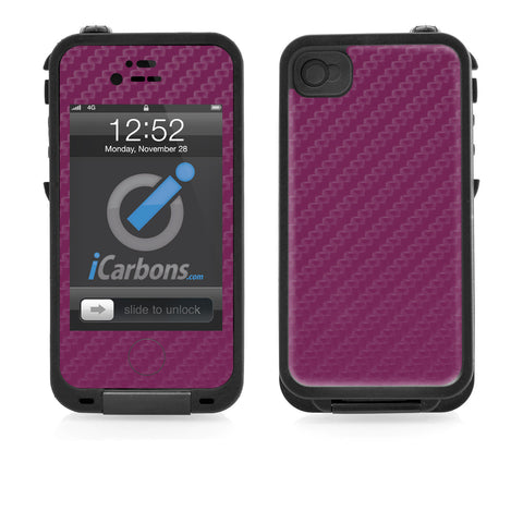 LifeProof Case iPhone 4/4S Skin - Purple Carbon Fiber - iCarbons