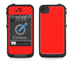 LifeProof Case iPhone 4/4S Skin - Red Carbon Fiber