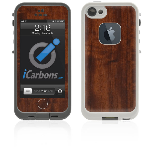 LifeProof Case iPhone 5 Skin - Dark Wood - iCarbons
