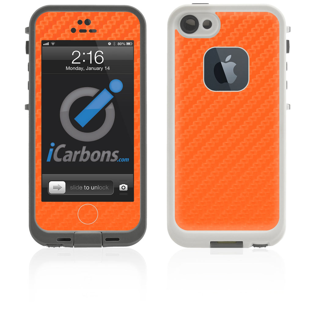 LifeProof Case iPhone 5 Skin - Orange Carbon Fiber - iCarbons