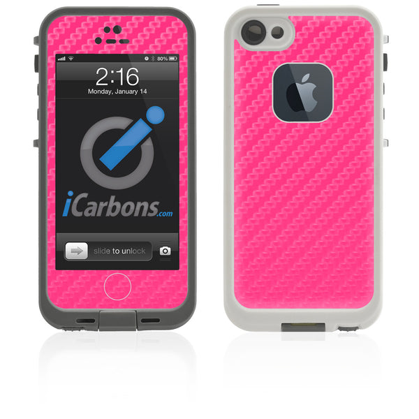 LifeProof Case iPhone 5 Skin - Pink Carbon Fiber - iCarbons