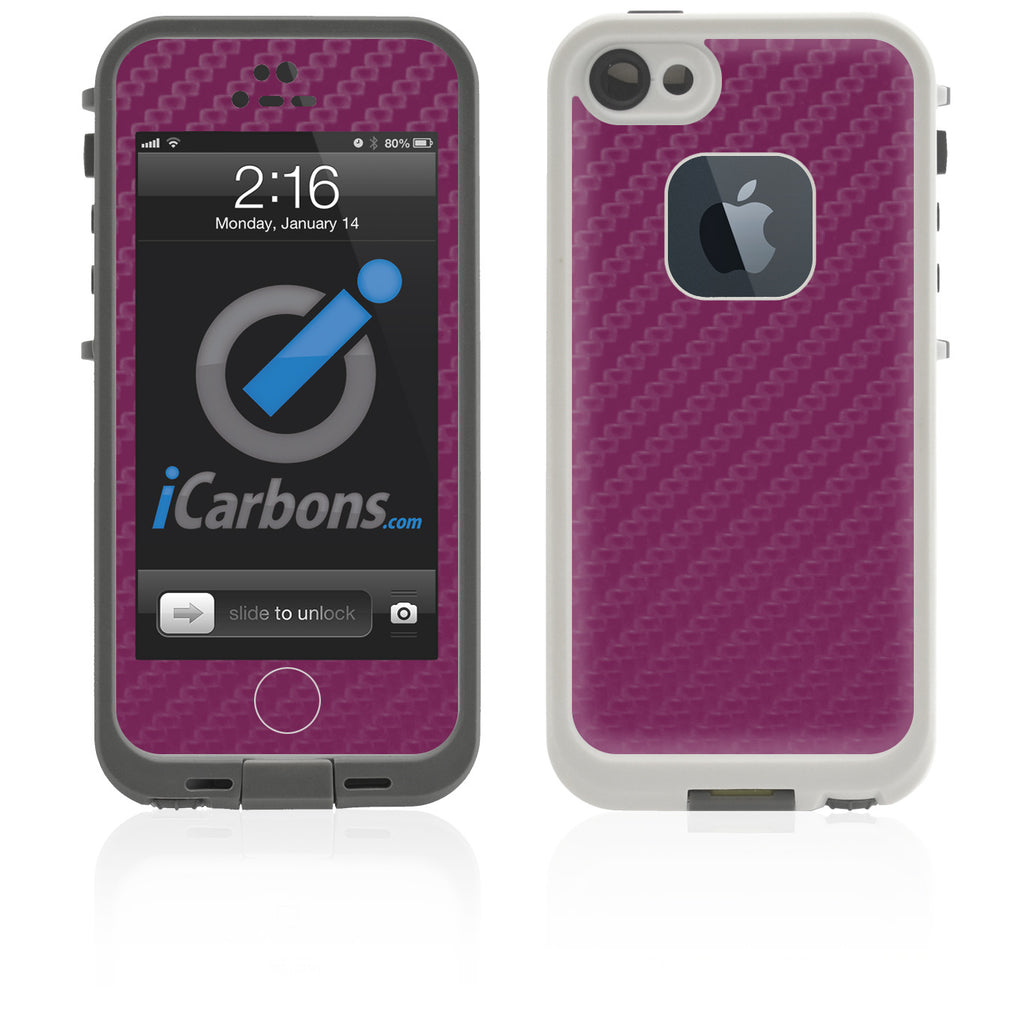 LifeProof Case iPhone 5 Skin - Purple Carbon Fiber - iCarbons